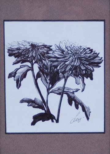 Хризантемы, б-ручка, 2015, 1,5